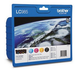 Brother [LC-985VALBP] MultiPack (LC-985BK+LC-985C+LC-985M+LC-985Y) black+cyan+magenta+yellow Tinte