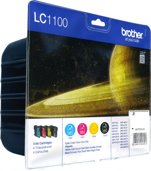 Brother [LC-1100VALBP] MultiPack (LC-1100BK+LC-1100C+LC-1100M+LC-1100Y) black+cyan+magenta+yellow Tinte