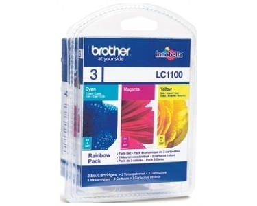 Brother [LC-1100RBWBP] MultiPack (LC-1100C+LC-1100M+LC-1100Y) cyan+magenta+yellow Tinte